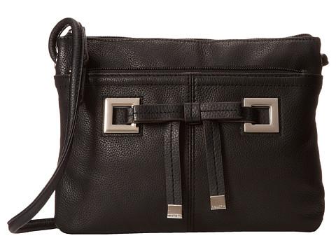 Tignanello All Dressed Up Crossbody (Black) Cross Body Handbags