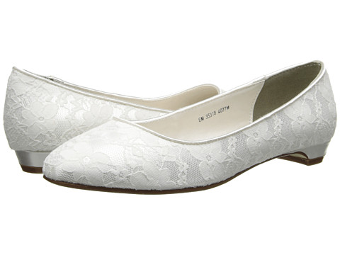 Touch Ups - Yvette (White Satin/Lace) Women's Shoes