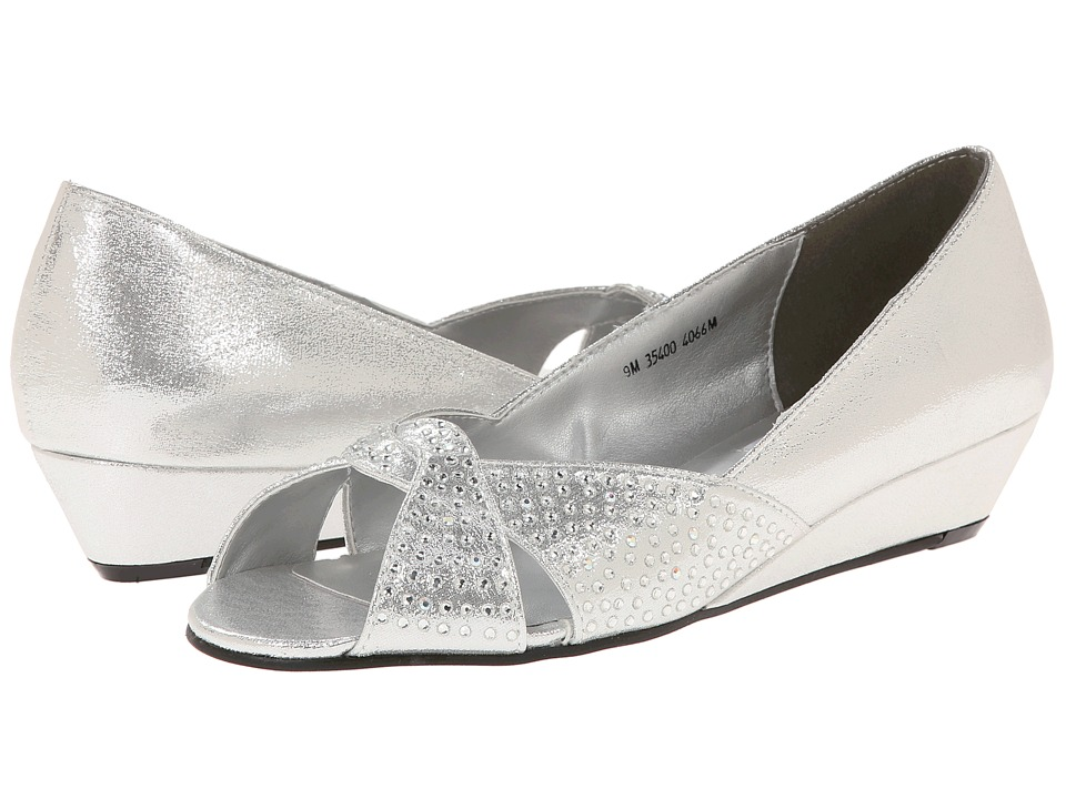 Touch Ups Alice (Silver Shimmer) Womenu0027s Wedge Shoes