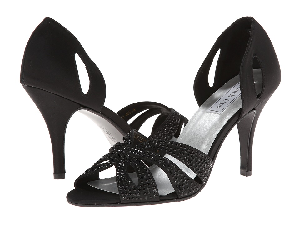 Touch Ups - Poise (Black Satin) Women's Dress Sandals
