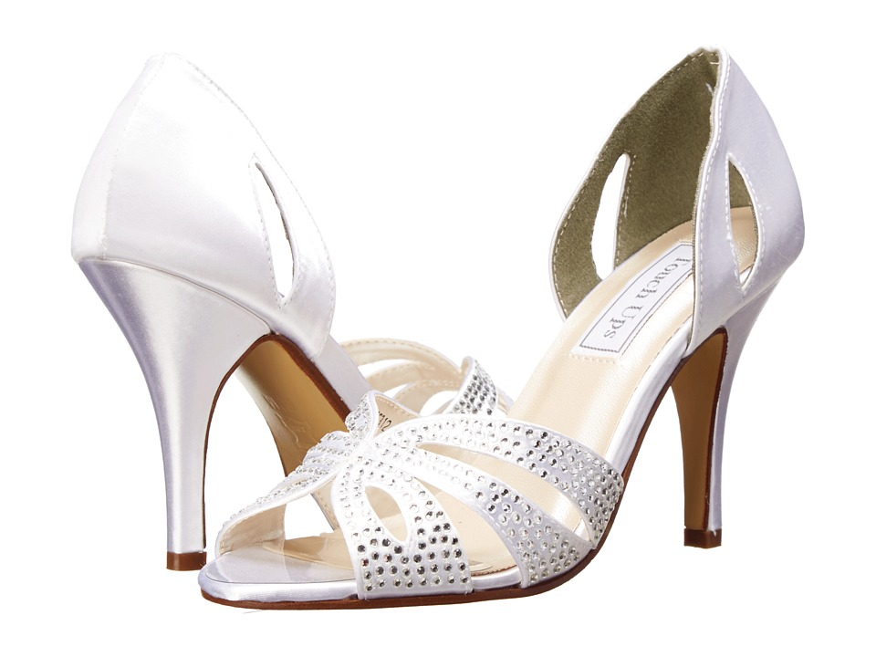 Touch Ups - Poise (White Satin 1) Women's Dress Sandals