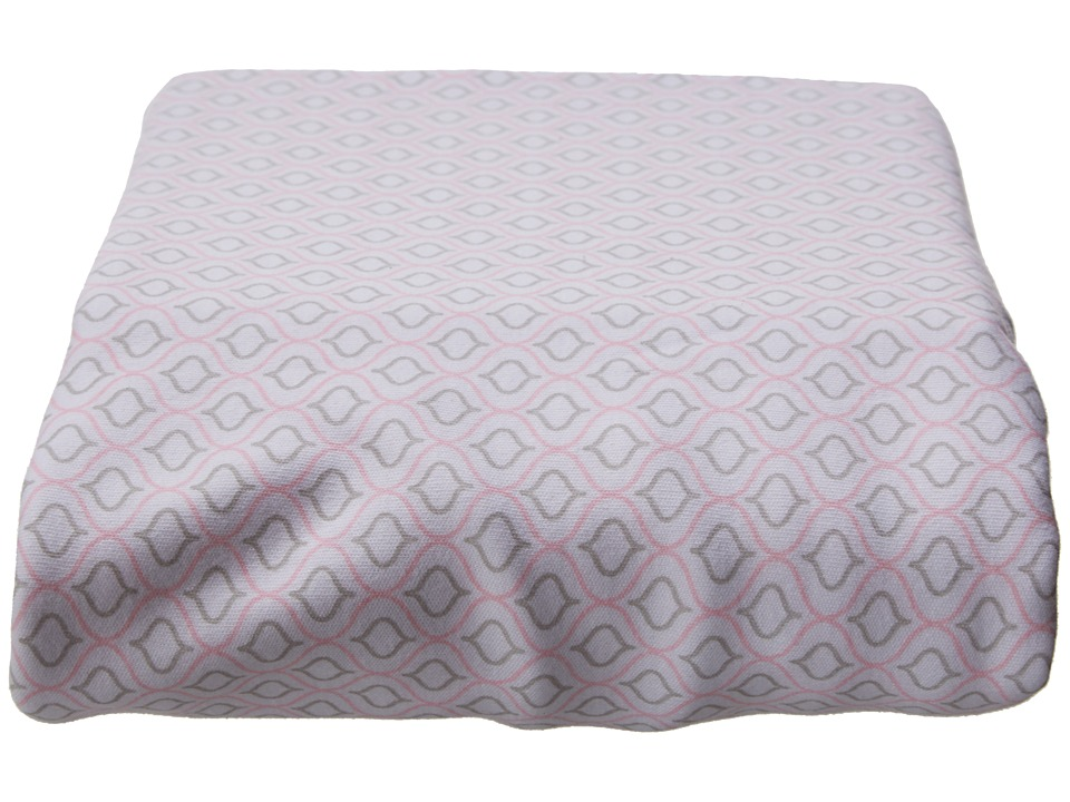 lolli LIVING - Living Textiles Jersey Fitted Sheets (Koko Rose) Sheets Bedding