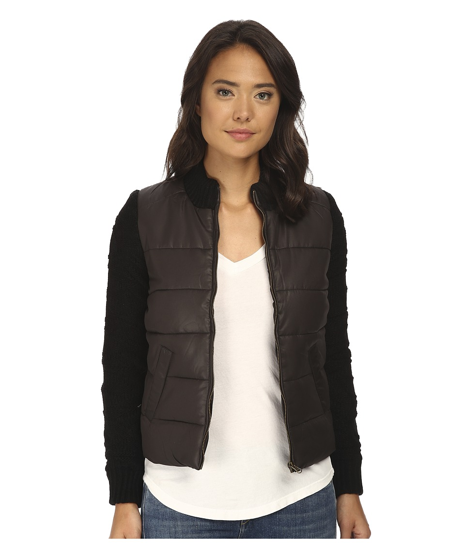 Billabong - Chill Vibes Quilted Jacket (Black) Women's Coat