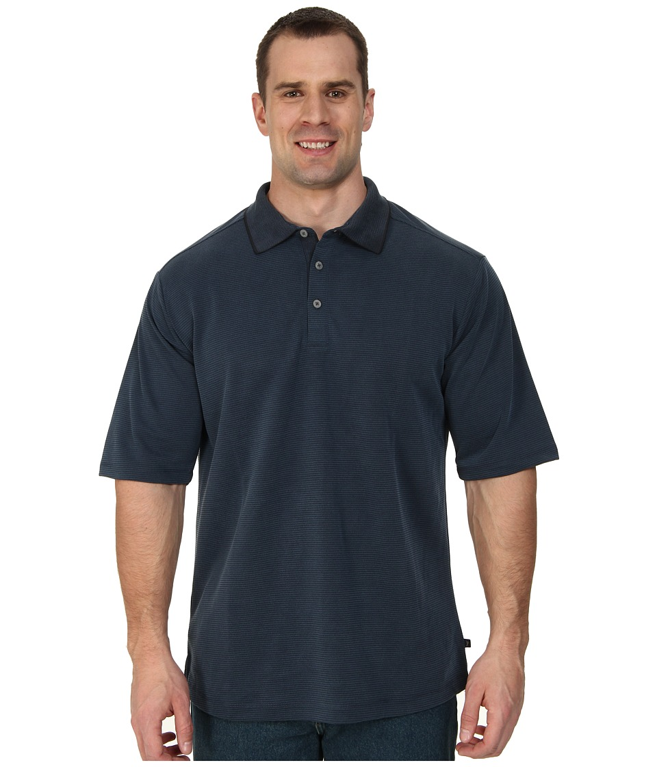 Tommy Bahama Big & Tall - Big Tall Sand Drift Stripe Polo Shirt (Neptune) Men's Short Sleeve Pullover
