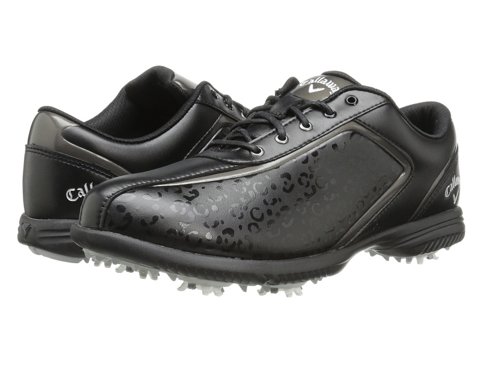 Callaway - Halo Pro (Black/Leopard) Women's Golf Shoes