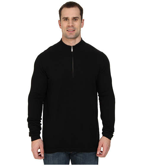 Tommy Bahama Big & Tall - Big Tall Island Luxe Half Zip (Black) Men's Sweater