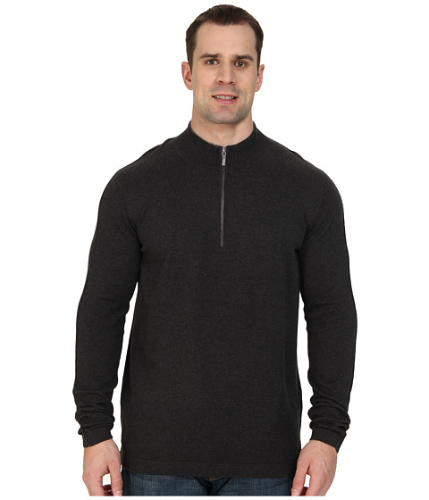 Tommy Bahama Big & Tall - Big Tall Island Luxe Half Zip (Cinder) Men's Sweater