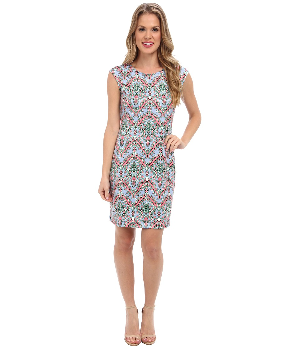 Nally & Millie - Printed Cap Sleeve Dress (Multi) Women's Dress