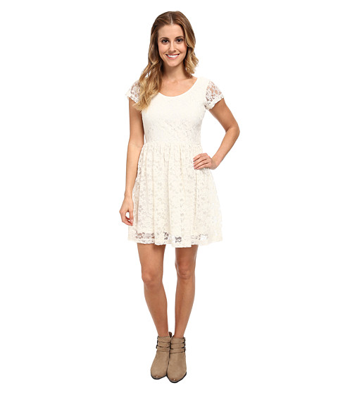 Element - Serenade S/S Lace Dress (Natural) Women's Dress