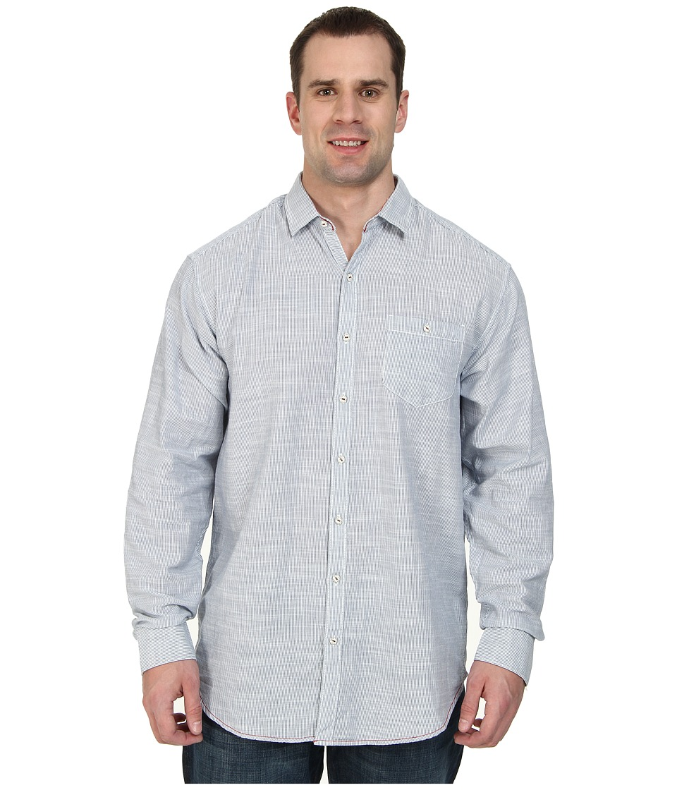 Tommy Bahama Big & Tall - Big Tall Havasu Stripe L/S Button Up (Dress Blue) Men's Long Sleeve Button Up