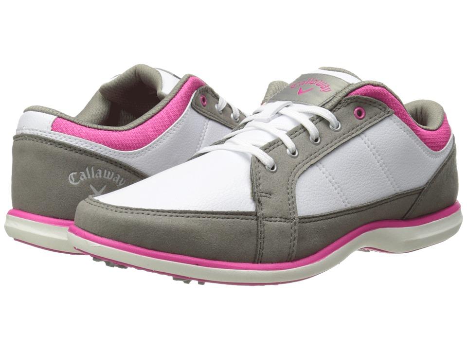 Callaway - Playa (White/Grey/Pink) Women's Golf Shoes