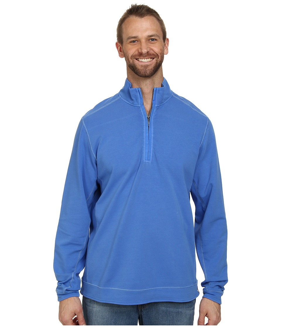 Tommy Bahama Big & Tall - Big Tall New Ben and Terry Sweatshirt (Blue Splash) Men's Long Sleeve Pullover
