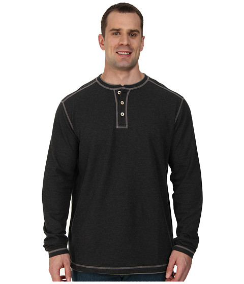 Tommy Bahama Big & Tall - Big Tall Grand Thermal Henley (Black Heather) Men