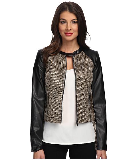 Calvin Klein - Moto Jacket (Tan Khaki Multi) Women