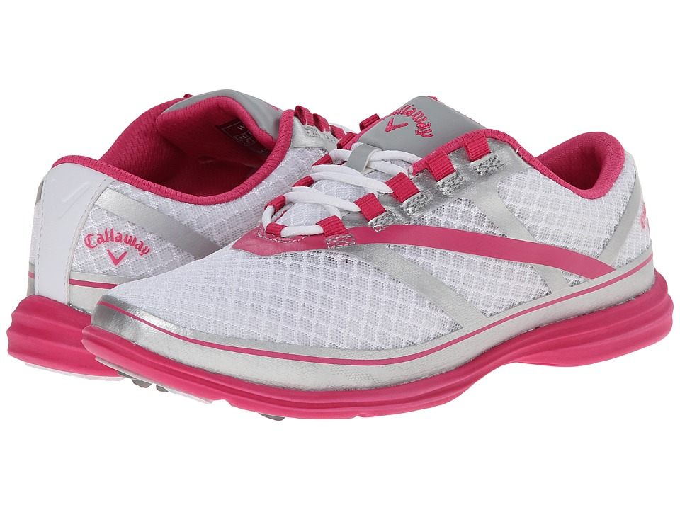 Callaway - Solaire SE (White/Silver/Pink) Women's Golf Shoes