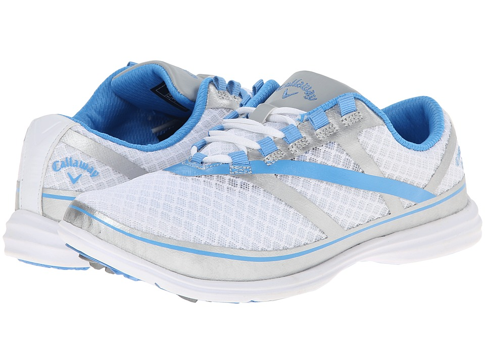 Callaway - Solaire SE (White/Silver/Blue 2) Women's Golf Shoes