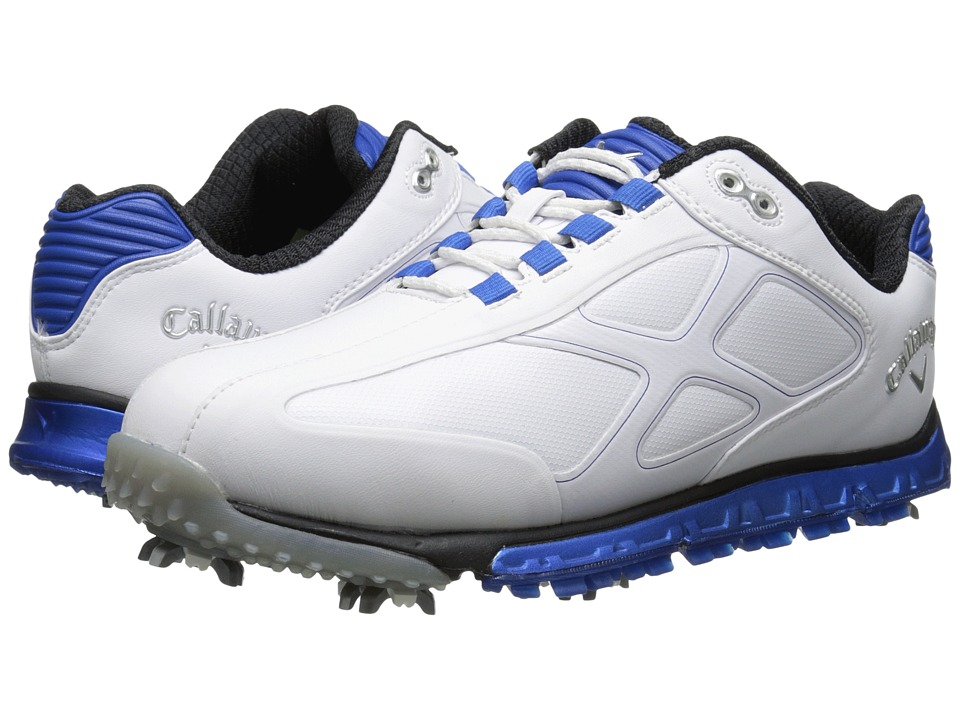 Callaway - Xfer Pro (White/Blue) Men's Golf Shoes
