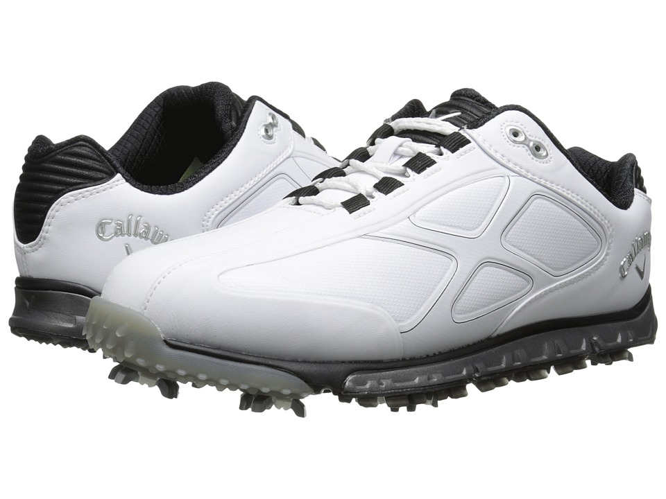 Callaway - Xfer Pro (White/Black) Men's Golf Shoes