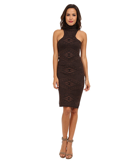 Rachel Pally - Turtleneck Mid-Length Dress (Brown Intarsia) Women's Dress