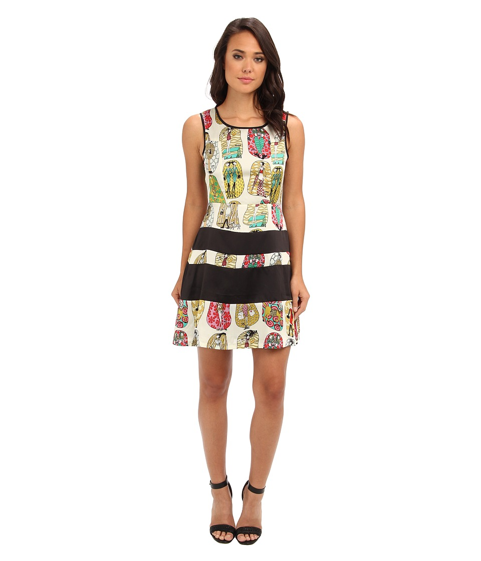 Gabriella Rocha - Retro Fever Fit N Flare Dress (Popai Olive Print) Women's Dress