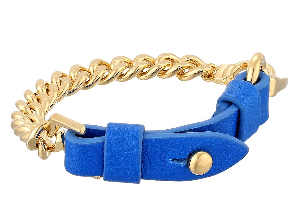 Marc by Marc Jacobs - Bmx Leather Bracelet (Electric Blue Lemonade) Bracelet