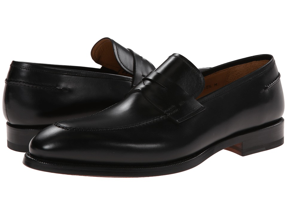 Magnanni - Tevio (Black) Men's Plain Toe Shoes
