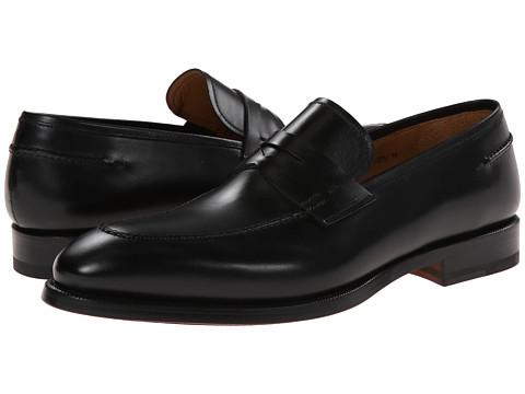 Magnanni - Tevio (Black) Men's Plain Toe Shoes