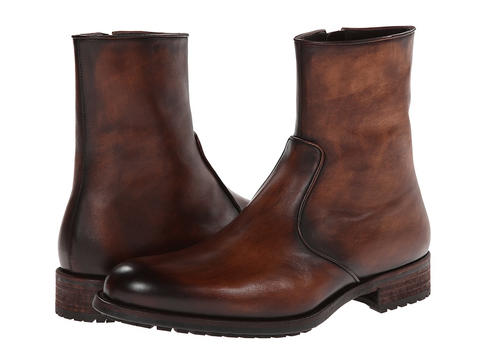 Magnanni - Lyon (Mid Brown) Men's Zip Boots