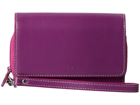 Lodis Accessories - Audrey Bea Phone Wallet (Raisin/Orchid) Wallet Handbags