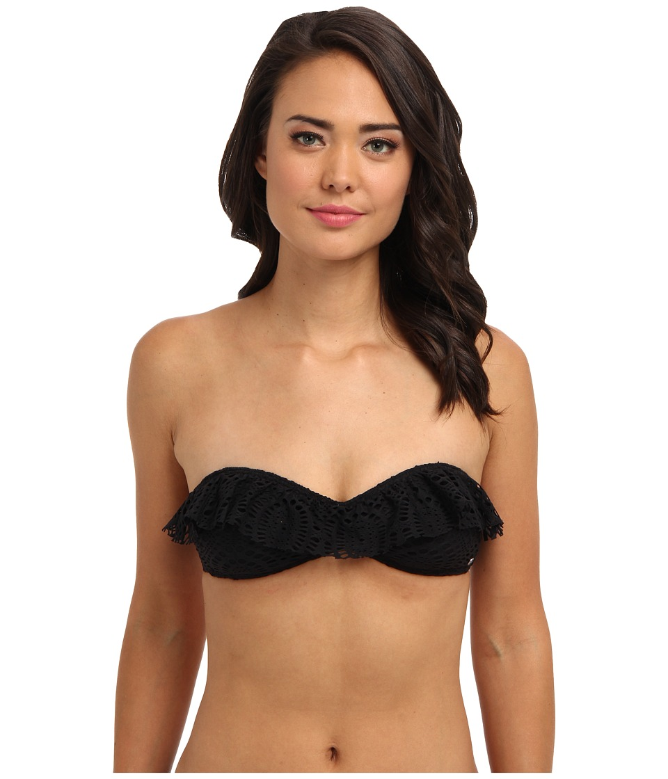 Billabong - Crochet Bandeau Top (Black) Women's Swimwear