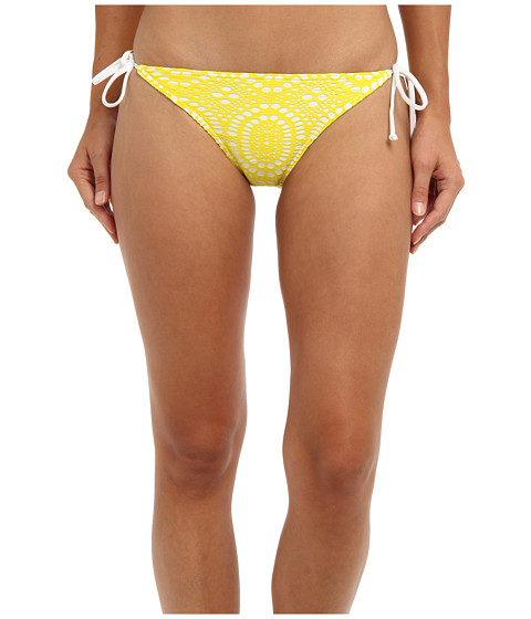 Billabong - Crochet Lowrider Bottom (Yellow) Women's Swimwear