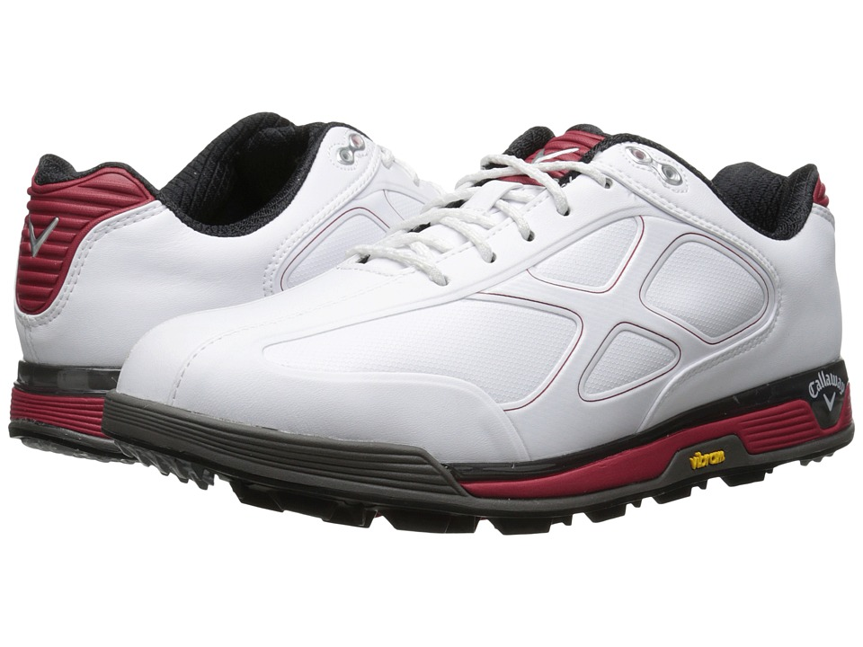 Callaway - Xfer Vibe (White/Red) Men's Golf Shoes
