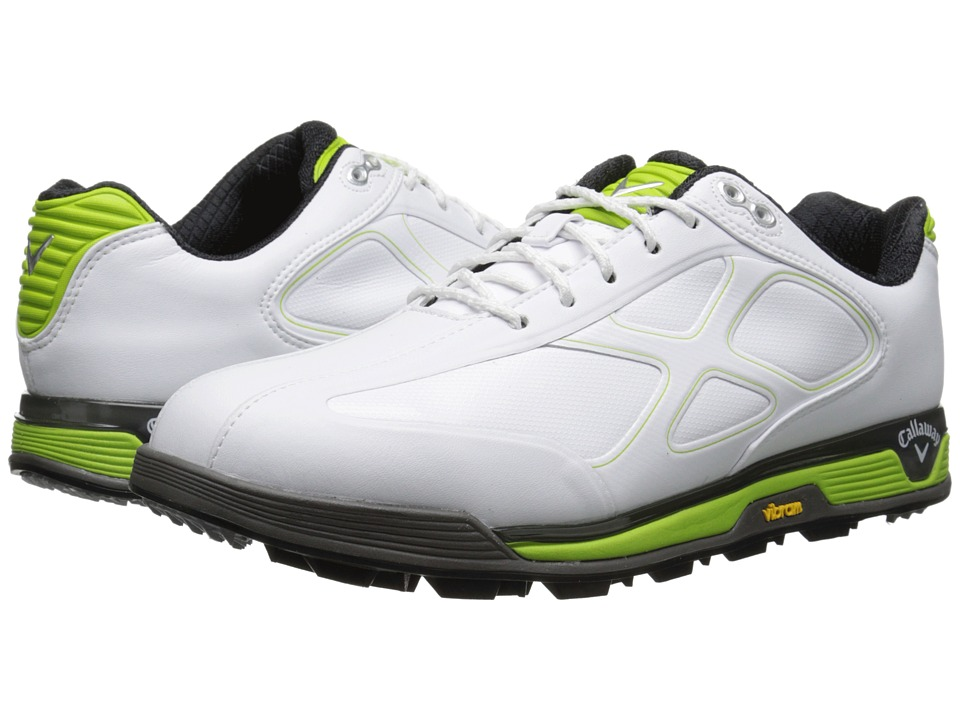 Callaway - Xfer Vibe (White/Green) Men's Golf Shoes