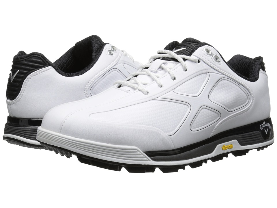 Callaway - Xfer Vibe (White/Black) Men's Golf Shoes
