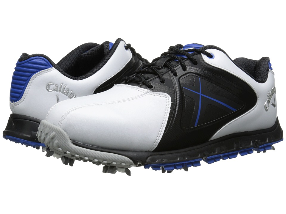 Callaway - Xfer Sport (White/Blue) Men's Golf Shoes