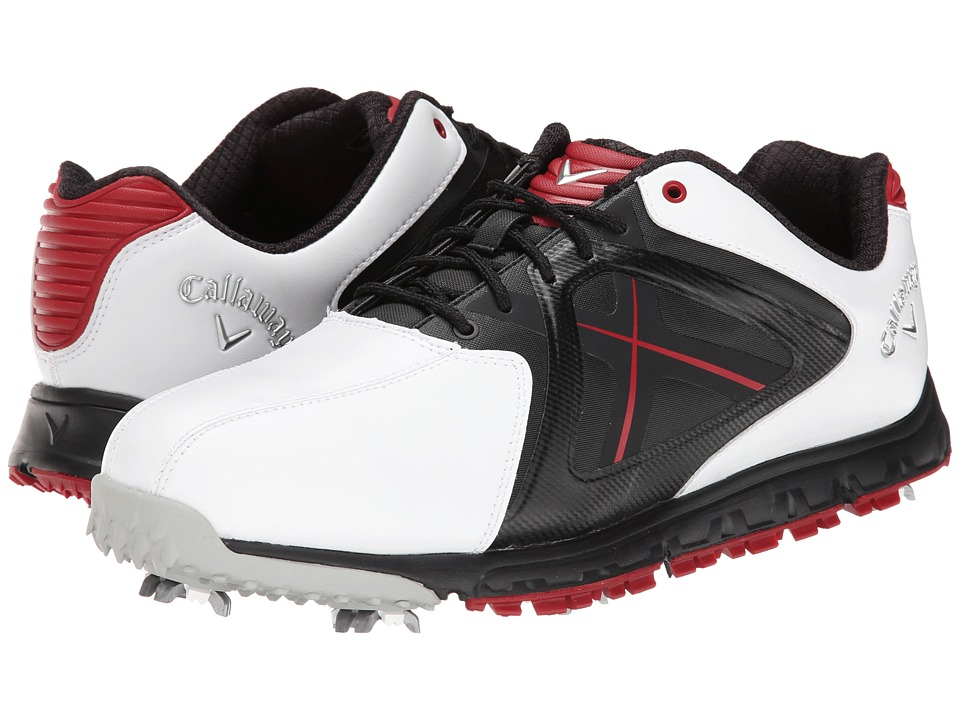 Callaway - Xfer Sport (White/Red) Men's Golf Shoes