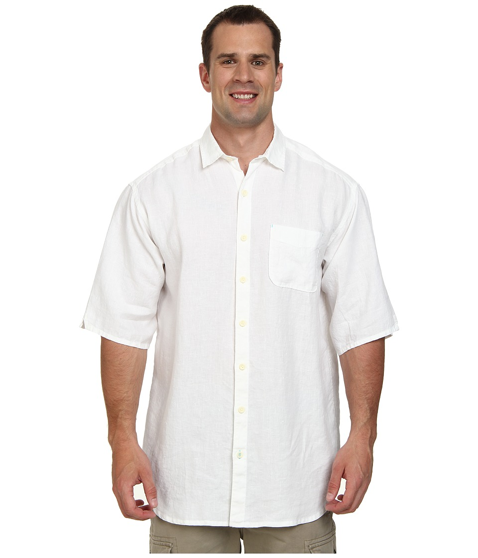 Tommy Bahama Big & Tall - Big Tall New S/S Sea Glass Breezer Camp Shirt (White) Men's Short Sleeve Button Up