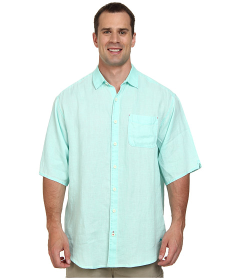Tommy Bahama Big & Tall - Big Tall New S/S Sea Glass Breezer Camp Shirt (Lawn Chair) Men