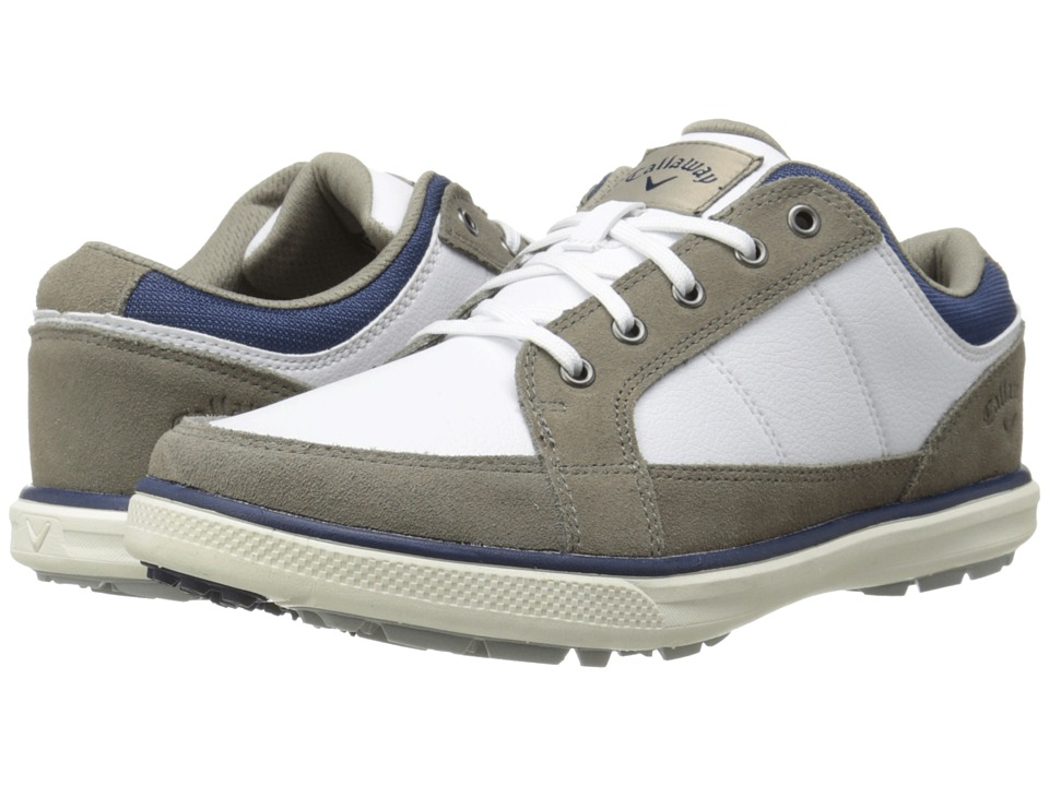 Callaway - Del Mar Sport (White/Grey/Navy) Men's Golf Shoes