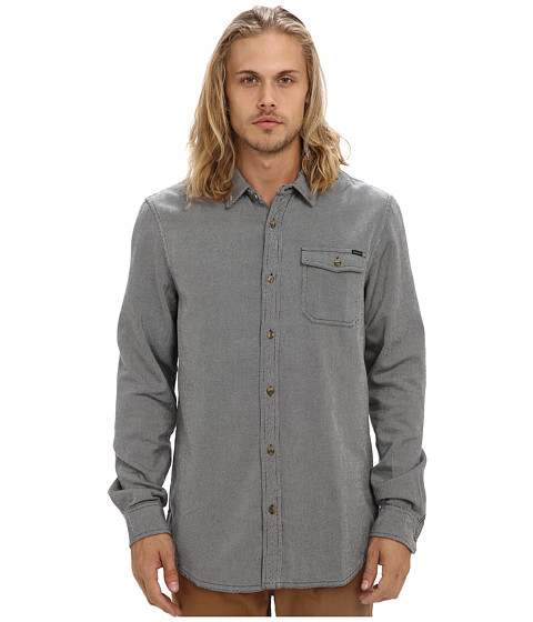 O'Neill - Frasier Woven (Navy) Men's Long Sleeve Button Up