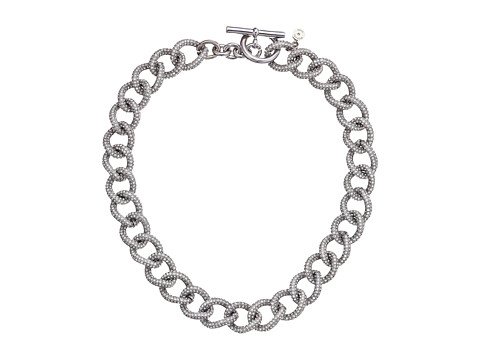 Michael Kors - Brilliance Curb Link Toggle Necklace (Silver) Necklace