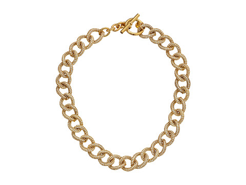 Michael Kors - Brilliance Curb Link Toggle Necklace (Gold) Necklace