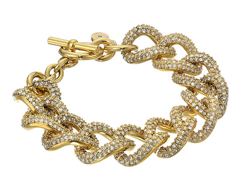 Michael Kors - Brilliance Curb Link Toggle Bracelet (Gold) Bracelet