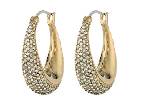 Michael Kors - Brilliance Pave Hoops (Gold) Earring