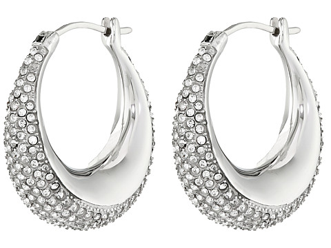 Michael Kors - Brilliance Pave Hoops (Silver) Earring