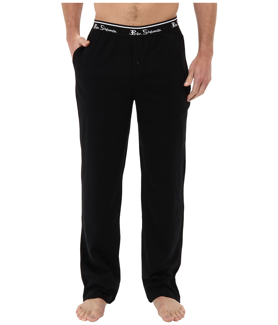 Ben Sherman - Solid Knit Lounge Pant (Black) Men's Casual Pants
