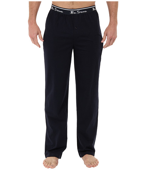 Ben Sherman - Solid Knit Lounge Pant (Navy) Men's Casual Pants