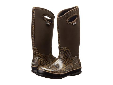 Bogs - Winterberry Tall Lite (Chocolate Multi) Women's Rain Boots