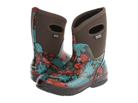 Bogs - Winter Blooms Mid Lite (Chocolate Multi) Women