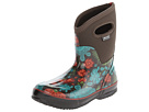 Bogs - Classic Winter Blooms Mid Lite (Chocolate Multi) -